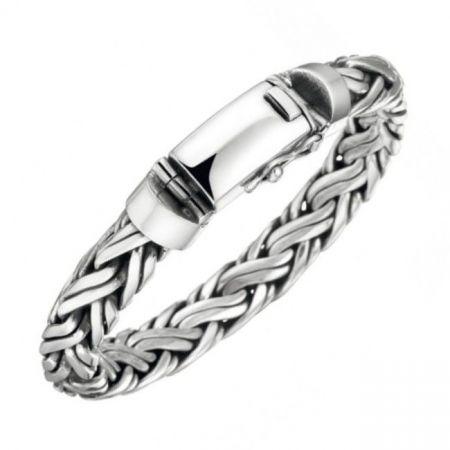 Massief zilveren mannenarmband-10mm