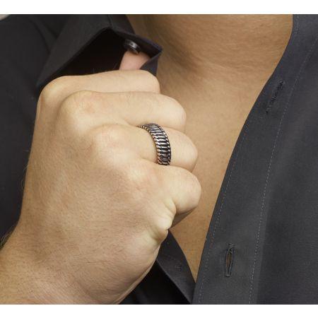 Zilveren ring unisex