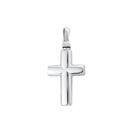 Zilveren ashanger kruis