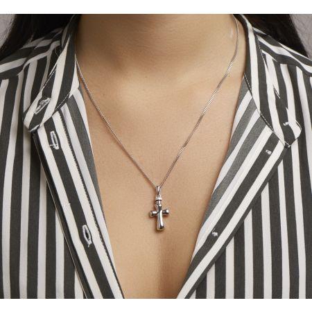 Zilveren ashanger kruisje