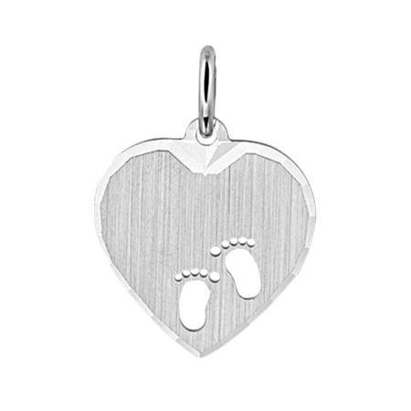 Zilveren Graveer Hanger hart