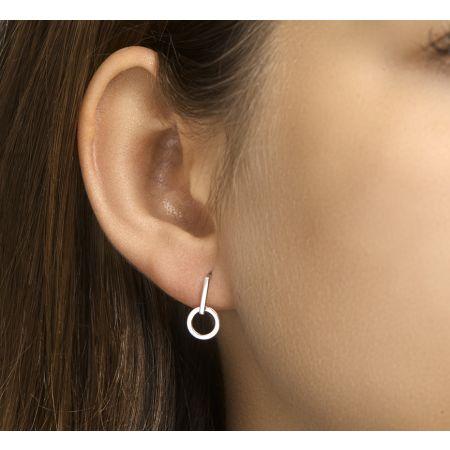 Zilveren oorbellen rondje