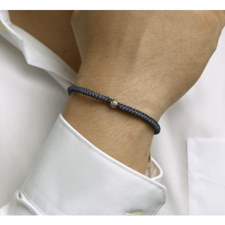 Armband blauw 7 mm 19 - 26 cm