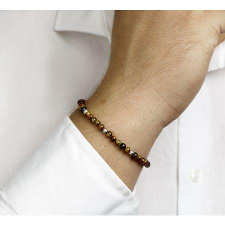 Armband tijgeroog 4,5 mm 18,5 + 3 cm