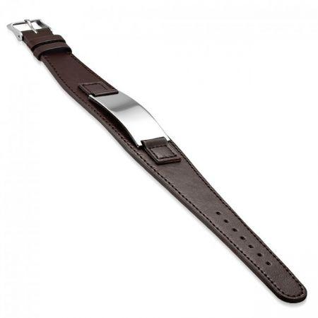Lederen Armband met graveerplaat