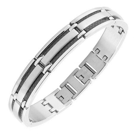 Edelstalen Mannen Armband