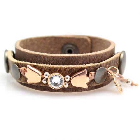 Leren armband -Sari- S