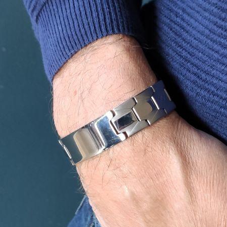 Edelstalen Armband met Graveerplaat