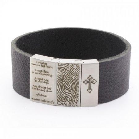 Vingerafdruk Armband