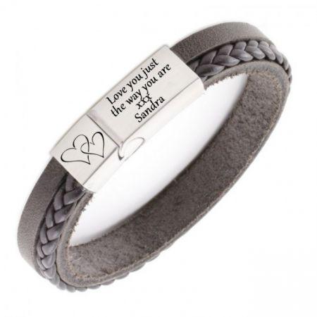 Leren Armband met Gravure