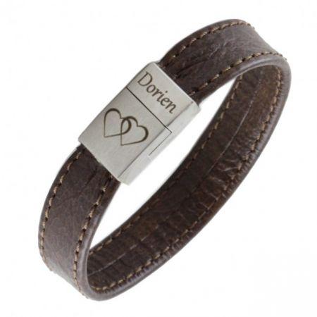 Soepele Graveerbare Leren armband