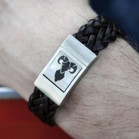 Leren Armband met Sterrenbeeld
