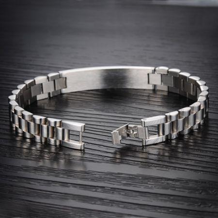 Stalen armband 21.5cm x 10mm