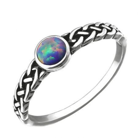 Zilveren ring met multi lavender steen